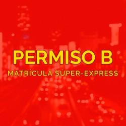 PERMISO B - Matrícula...