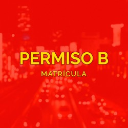 PERMISO B - Matrícula